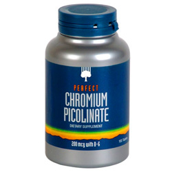Chromium picolinate and chromium polynicotinate are common forms of Chromium used in diet supplements.